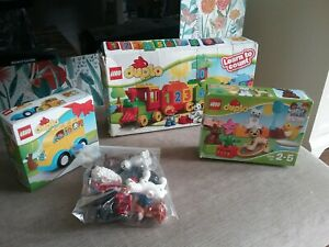 LEGO Duplo Number Train (10558), Duplo Bus 10851,  10838 Family pets and  extras