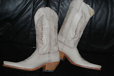 NEW Women's Sendra Beige Leather Cowboy Boots (10) $340.00