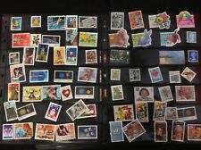 4 Pages of Used Stamps Very Good Condition