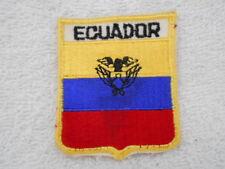 Ecuador Country Flag New Name Patch Tag
