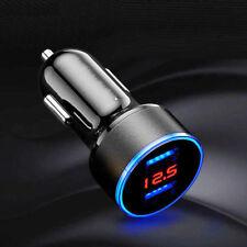 Dual Port 3.1A USB Car Cigarette Charger Lighters 12V/24V Digital LED Voltmeter