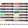 UNI POSCA Marker PC-1M Paint Pen Extra Fine Bullet Tip 0.7mm Colored Glass Metal
