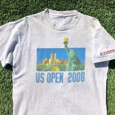 Vtg Y2K 2000 Us Open Tennis Tournament Twin Towers Stature Liberty T Shirt Xl