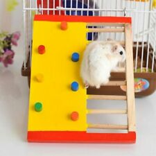 Animal Hamster Exercise Natural Wooden Climbing Toy Guinea Pig Ladder Colorful