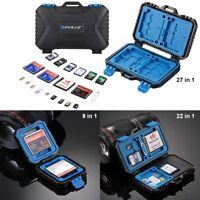 USB3.0 Waterproof Memory Card Reader SD MicroSD CF TF SIM Storage Case Box FF2E