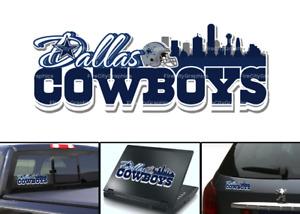 Dallas Cowboys Skyline Vinyl Vehicle Car Laptop Wall Sticker Decal