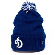 """HC Dynamo Moscow KHL """"Team"""" cuffed beanie hat with pom, blue"""