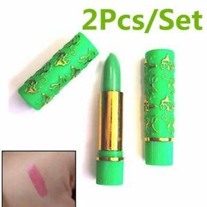 2pcs Lapiz Labial MAGICO Cremoso Hidratante y De Larga Duracion Lipstick Long