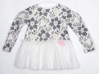 Catherine Malandrino Kids 3T Baby Girl Dress Floral White Pink