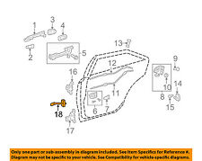 TOYOTA OEM 07-11 Camry-Door Check Arm Stop Hinge Strap Right 6863006030