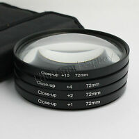 72mm +1+2+4+10 Close Up LENS Filter kit MACRO Close-Up for canon nikon sony pent