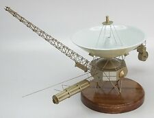 Voyager 1-2 NASA Twin Satellite Spacecraft Mahogany Kiln Dry Wood Model Small