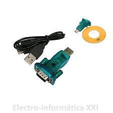 CONECTOR USB A PUERTO SERIE RS232 -ADAPTADOR CONVERSOR CABLE USB A SERIE DB9