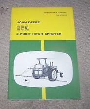 John Deere 25A 3PT Hitch Sprayer Operators Manual   Used