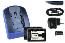 2 Batteries+Chargeur USB BN-VG121 pour JVC GZ-HM570, HM650, HM655, HM845, HM960