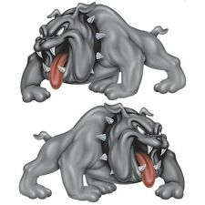 "Lethal Threat Bull Dog Spike Sticker Car Truck SUV 6""x8"" US SELLER Pack of 2"