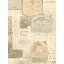 International Wine Labels In Beige & Grey Wallpaper PA5445