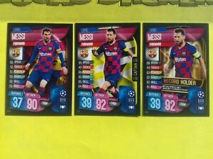 Lionel Messi 3 cards TOPPS MATCH ATTAX UEFA CHAMPIONS LEAGUE 2019-2020