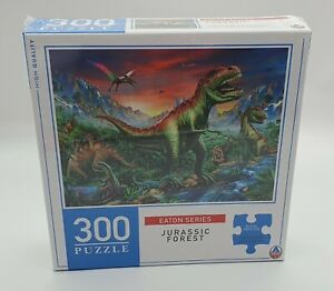 Eaton Series - Jurassic Forest - 300 piece Jigsaw Puzzle (Dinosaurs, T-Rex)