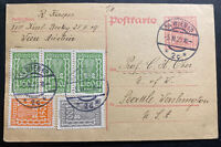 1923 Vienna German Austria Stationery Postcard Cover To Seattle WA USA