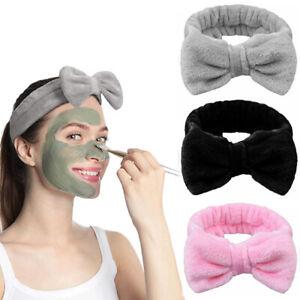 Big Bow Soft Spa Facial Makeup Hair Band Bath Shower Wrap Elastic Towel Headband