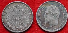 MONETA COIN MONNAIE FRANCIA EMPIRE FRANÇAIS 20 CENTIMES 1860 (A) ARGENTO SILVER
