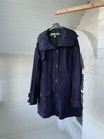 Women's Burberry London Purple Nylon Hooded Coat Jacket Size UK6 US4