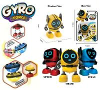 Gyro Force Robot Spinning Battle & Gyroscope Pull Back Bayblade Toys Boys Girls
