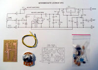 Intermediate Licence VFO PCB Kit, 3.5-3.8MHz. Designed and created in Dorset UK.