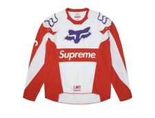 Supreme x Fox Racing Moto Jersey Top Red white color 2018Ss Used Size S