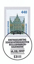 BRD 1997: Bremer Rathaus! SWK Nr 1937 mit Bonner Ersttags-Sonderstempel! 1A 1612