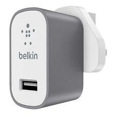 Belkin MIXIT 2.4A 12W USB cargador adaptador de red-Reino Unido-Gris espacial