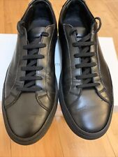 COMMON PROJECTS Achilles Low Black Size 9 (42) Leather Sneakers - Black