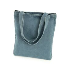 Light Denim Tote Bag Lightweight Shopper Shoulder Bag Beach Holiday Festival