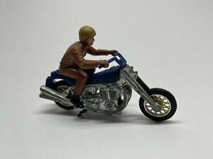 Vintage Hot Wheels Rrrumblers Road Hog Diecast Motorcycle - Brown Rider