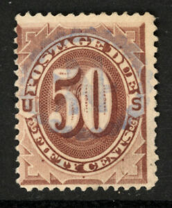 SCOTT J28 1891 50 CENT POSTAGE DUE ISSUE USED VG CAT $60!