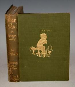 ARTHUR RACKHAM Peter Pan in Kensington Gardens With 24 Colour Plts 1910 BARRIE
