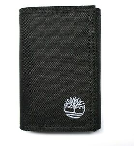 Timberland Nylon Trifold Credit Card Wallet with ID window - Black