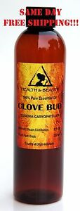 CLOVE BUD ESSENTIAL OIL ORGANIC AROMATHERAPY 100% PURE NATURAL 8 OZ