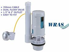 """* Nuevo * Cable Universal Botón Pulsador Doble Descarga Inodoro Cisterna Válvula 1.5"""" - 2"""" WRAS"""