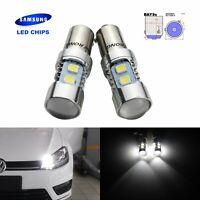 BAY9s H21W 10 SMD LED Backup Reverse Side Indicator Light Lamp Xenon White 6000K