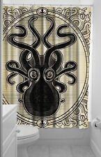 Sourpuss Kraken Shower Curtain Black & Beige NEW Nautical Rockabilly Punk Ocean