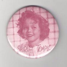 Unusual SHIRLEY TEMPLE doll pin SEPIA Tone pinback 3 in Diameter CUTE as can be