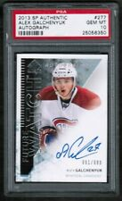 2013 14 UD Sp Authentic Future Watch Alex Galchenyuk PSA 10 Auto Rookie RC
