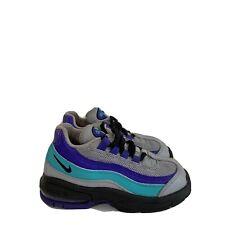 Nike Air Max Boy's Toddlers Wolf Gray/Black/Indigo Burst 905462-023 Size 8C