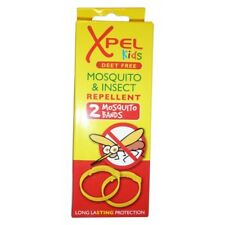 2 pk Xpel Kids Mosquito & Insect Repellent Bands Deet Free Long Last Protection