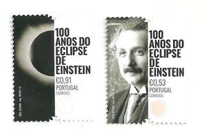 Portugal 2019 - 100 Years Einstein's Eclipse set MNH