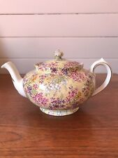 """Vintage Lord Nelson Ware Chintz """"Heather"""" Porcelain Teapot Made In England"""
