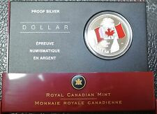 2005 LIMITED EDITION PROOF SILVER DOLLAR Painted Enameled Coloured Canadian Flag