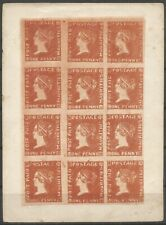 Mauritius,1d autotype!,Earee Type 3, very scare,only 600 produced